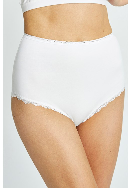 High Waist Briefs in White